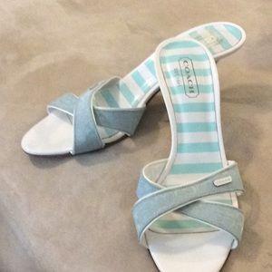 Coach Canyon Light Blue Sandal Size 9B